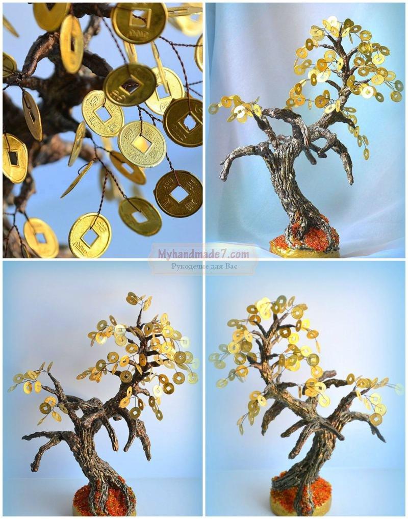 денежное дерево с монетами своими руками: пошаговый мастер-класс