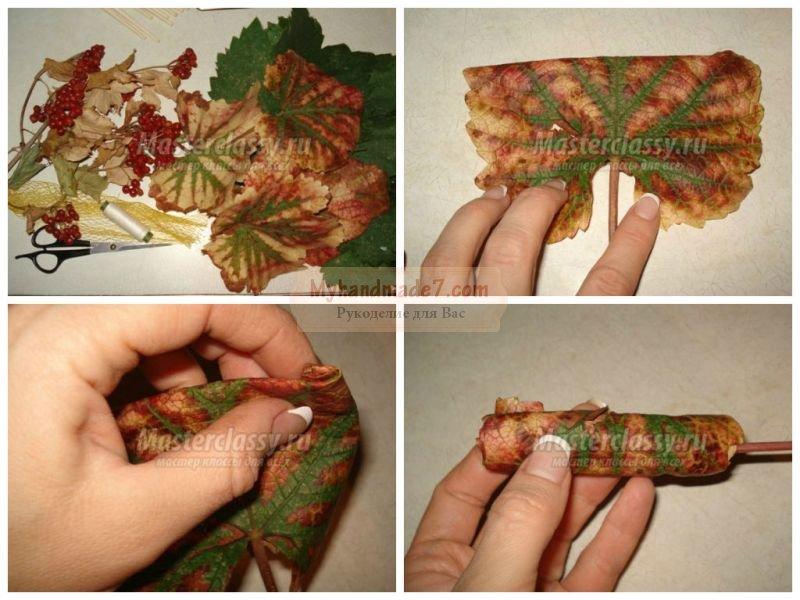 Осенний букет своими руками: лучшие идеи по созданию
