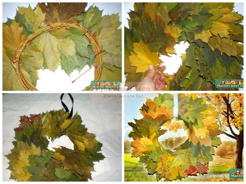 Осенние венки своими руками: пошаговые мк