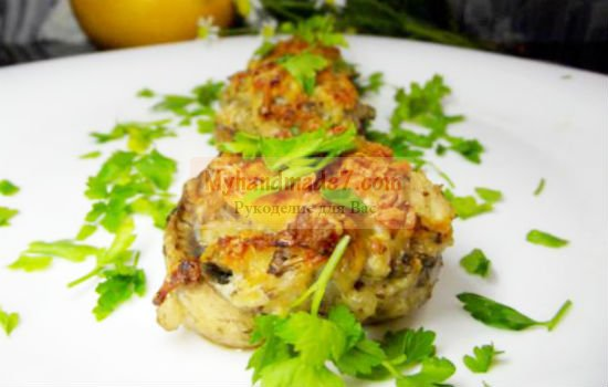 фаршированные грибы: лучшие рецепты с фото