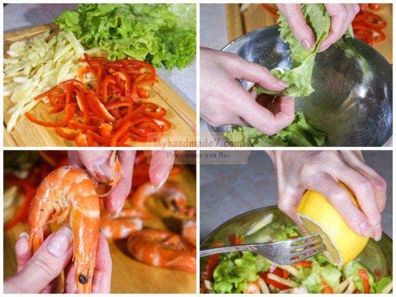 Салат новогодний с креветками: лучшие рецепты с фото