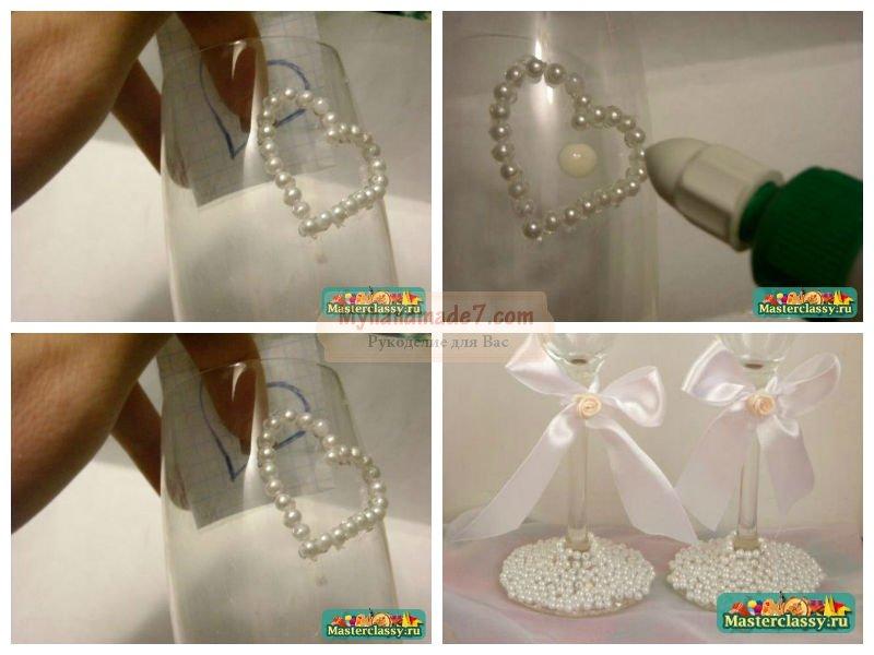 Свадебные фужеры своими руками: лучшие рецепты с фото