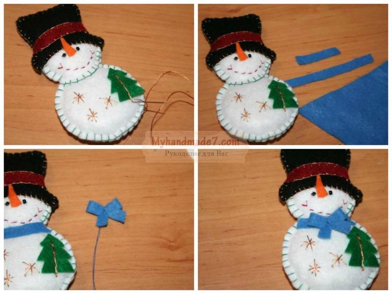 Снеговик своими руками мастер класс фото