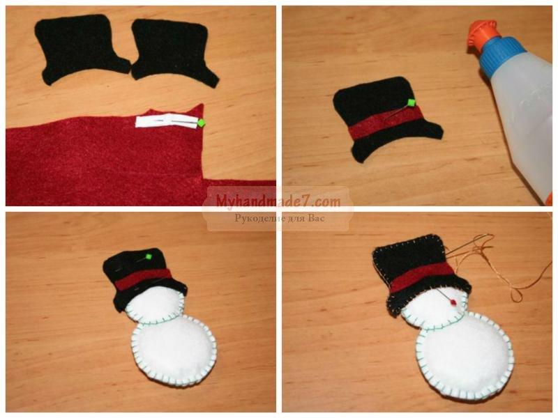 снеговик своими руками: пошаговый мастер-класс с фото