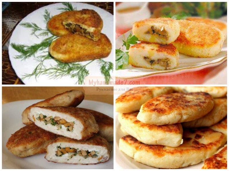 зразы с грибами: популярные рецепты с фото