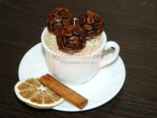 Поделки из кофейных зерен своими руками пошаговые