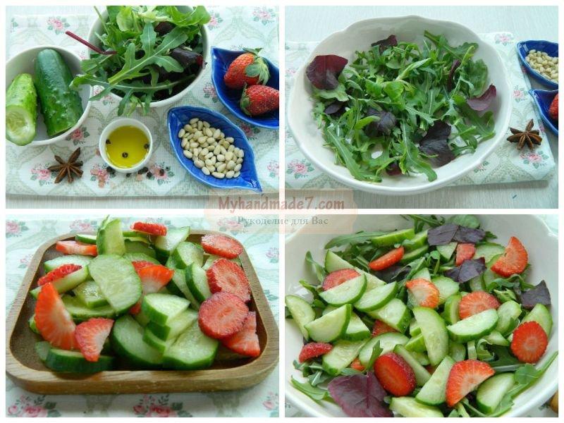 Летний салат из огурцов