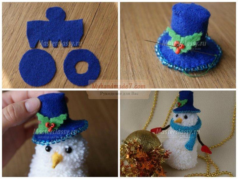 Новогодние снеговики своими руками: лучшие идеи и мастер-классы с фото
