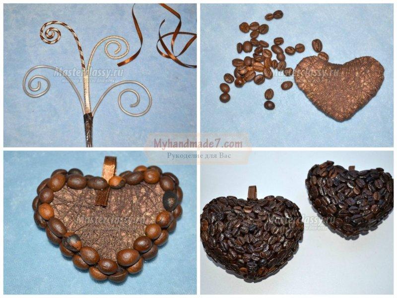 Поделки из кофейных зерен: популярные идеи с фото