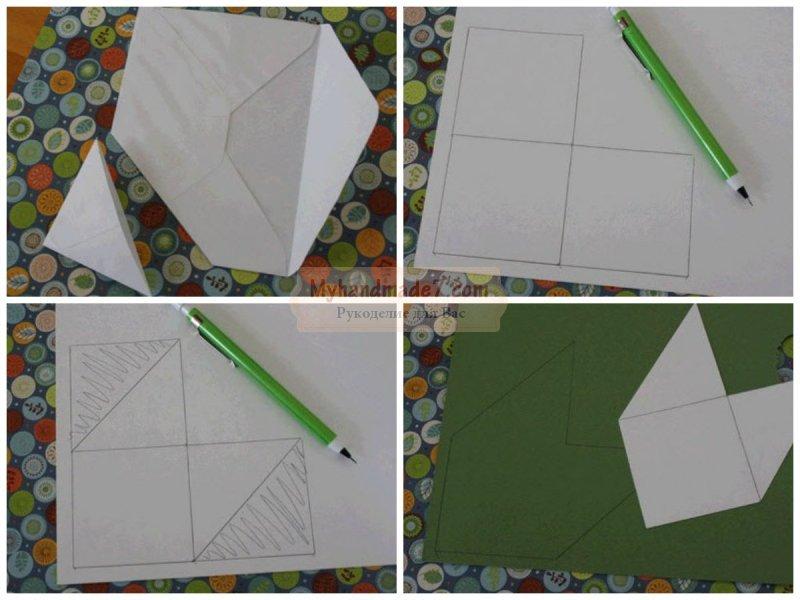 Как сделать закладку из бумаги без клея