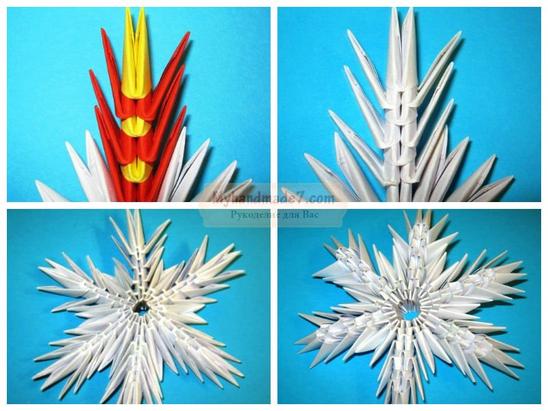 Объемные снежинки из бумаги: пошаговые мастер-классы с фото