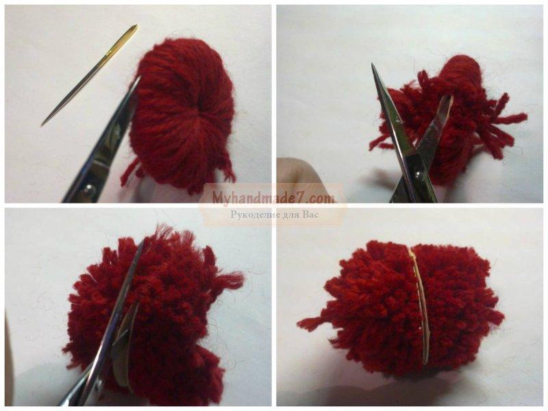 Как сделать помпон на шапку: популярные идеи с фото