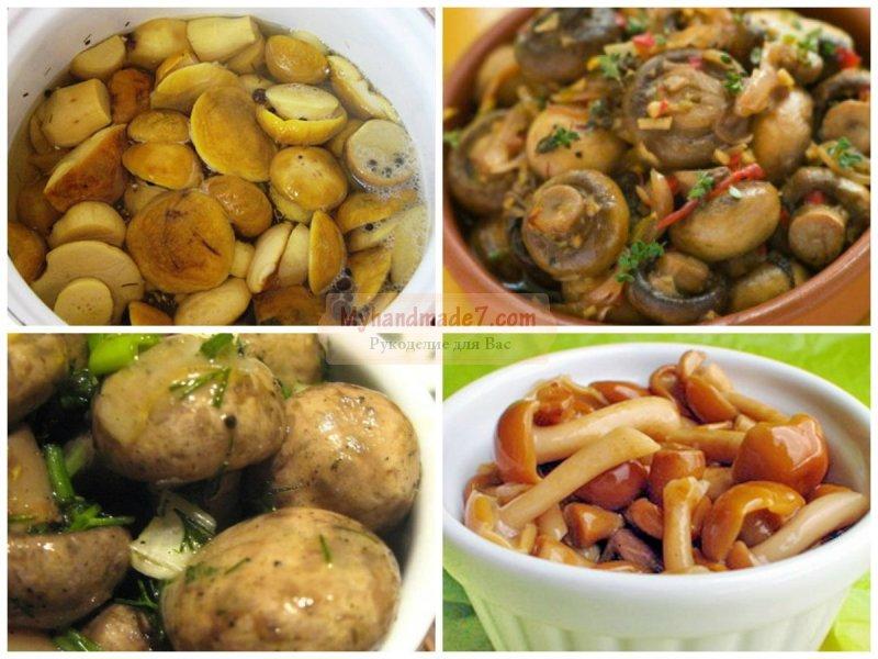 Как маринованные грибы: пошаговые рецепты с фото