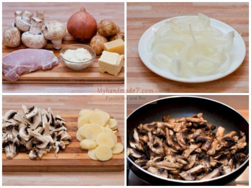 Картошка с грибами и мясом: лучшие рецепты с фото
