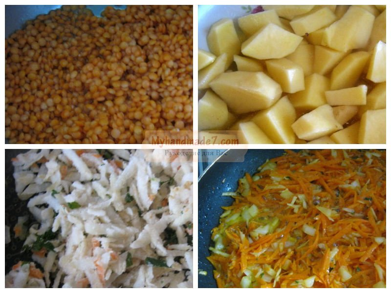 Суп - пюре из цветной капусты с горчичными гренками, пошаговый рецепт с фото