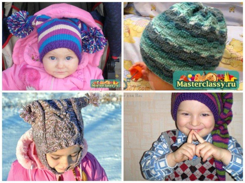 Детское вязание спицами шапочки: популярные мастер-классы с фото