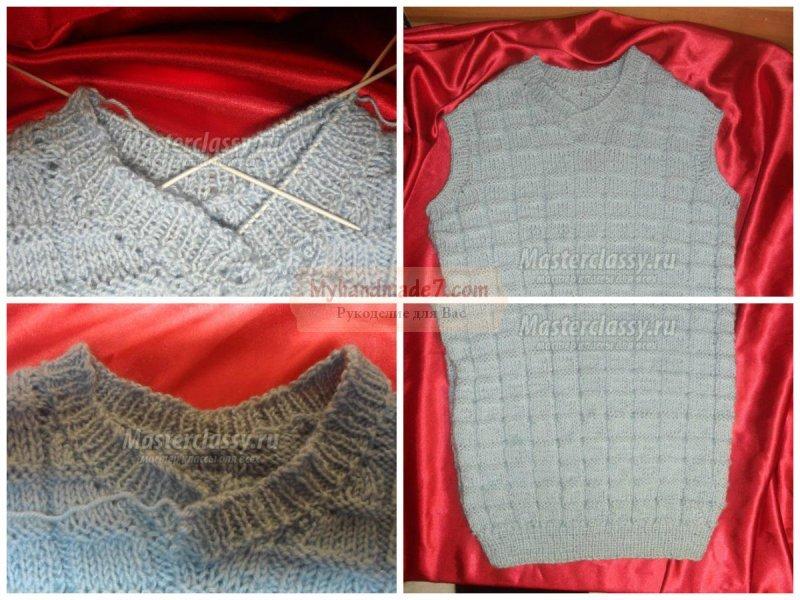Вязание жилетки спицами: