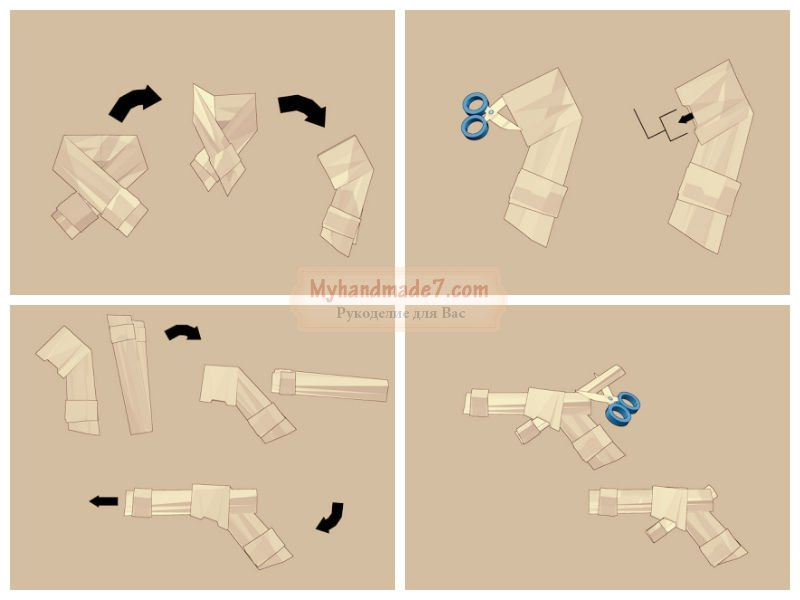 Как сделать з бумаги пистолет - Theform1.ru