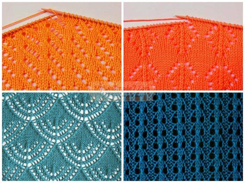 Ажурное вязание спицами с