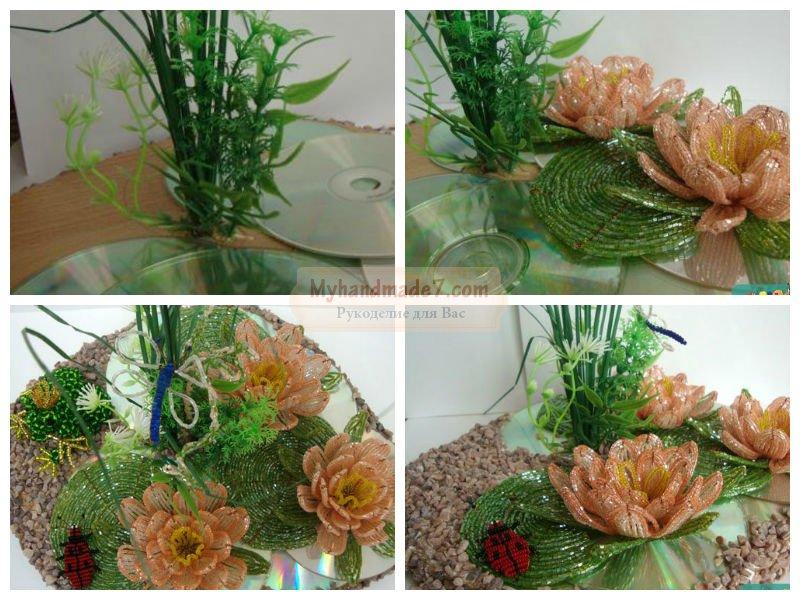 Цветы из бисера: мастер класс
