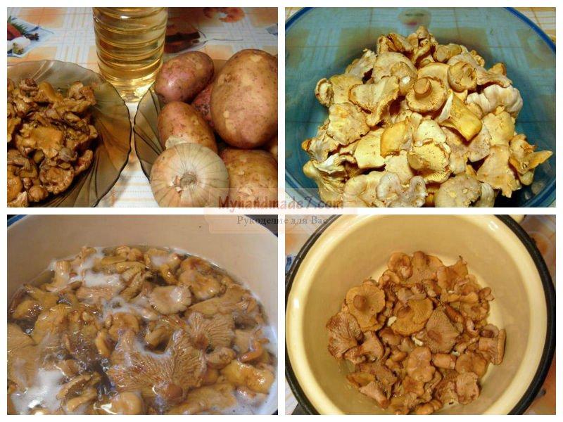 Картошка жареная с грибами: лучшие рецепты с фото