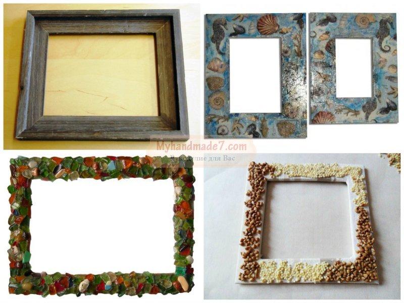 Рамки для фото из подручных средств в домашних условиях