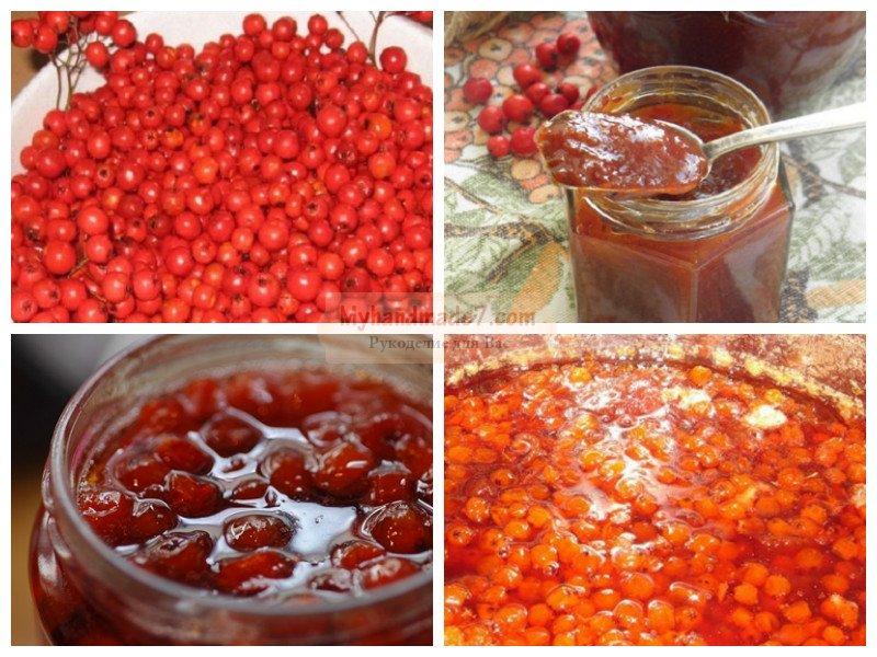 рецепты варенья из красной рябины