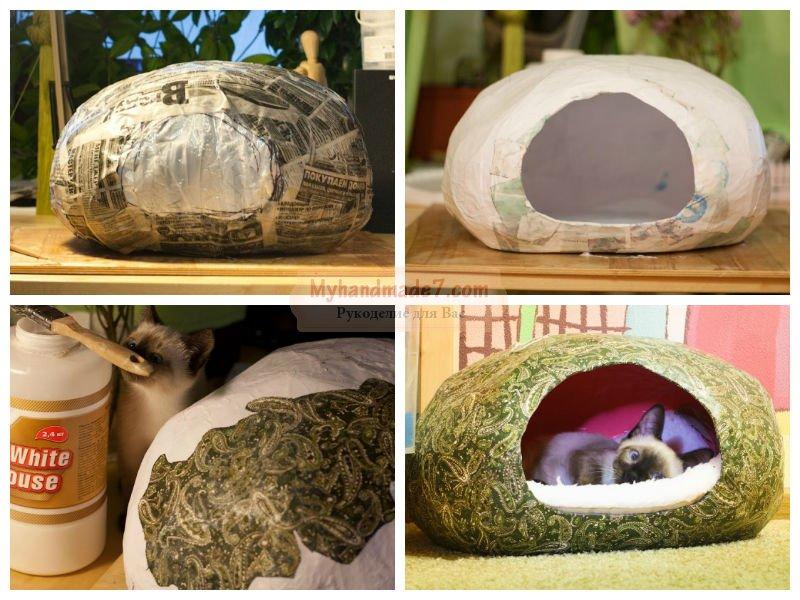 Шить домик для кошки своими руками