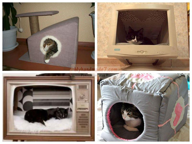 Домик для кошки своими руками мастер-класс