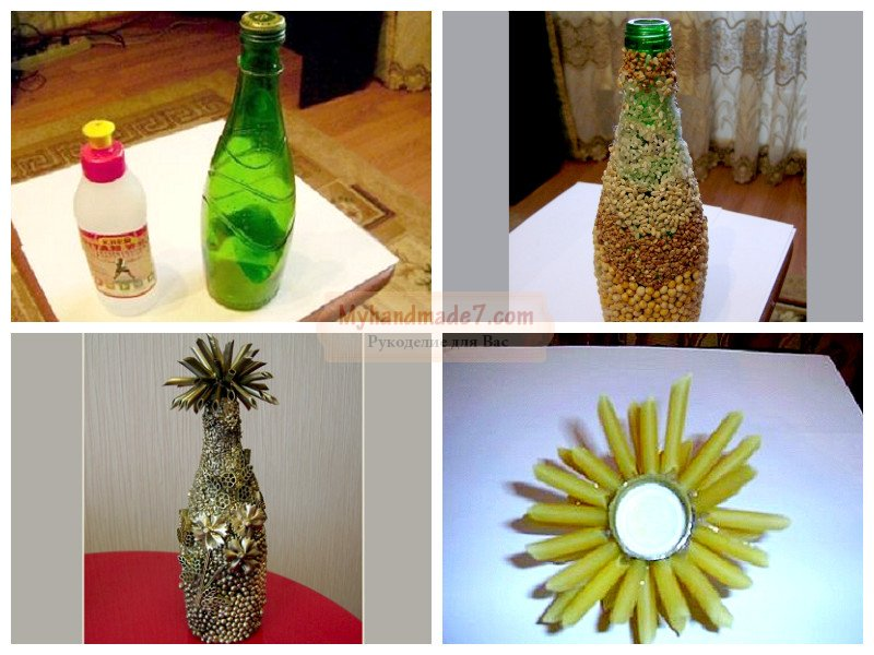Как декорировать бутылки своими руками 635