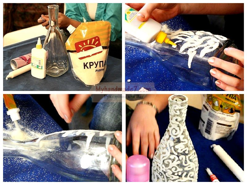 Как декорировать бутылки своими руками 913