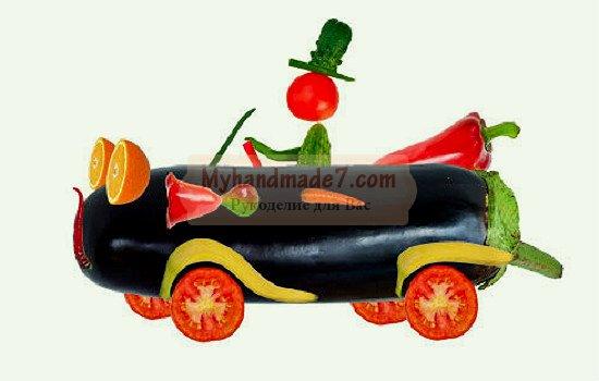 Машина из фруктов своими руками 81