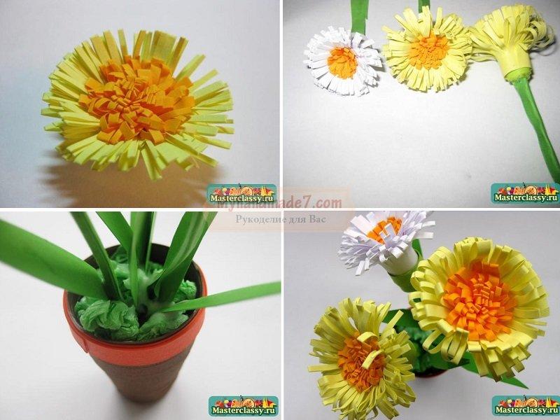 Поделки из цветов из материала 37