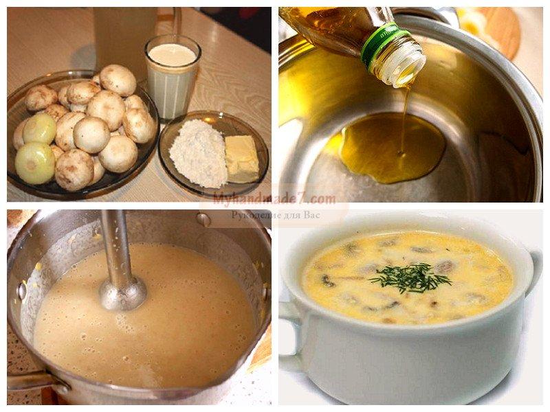 грибной суп на мясном бульоне рецепт с фото