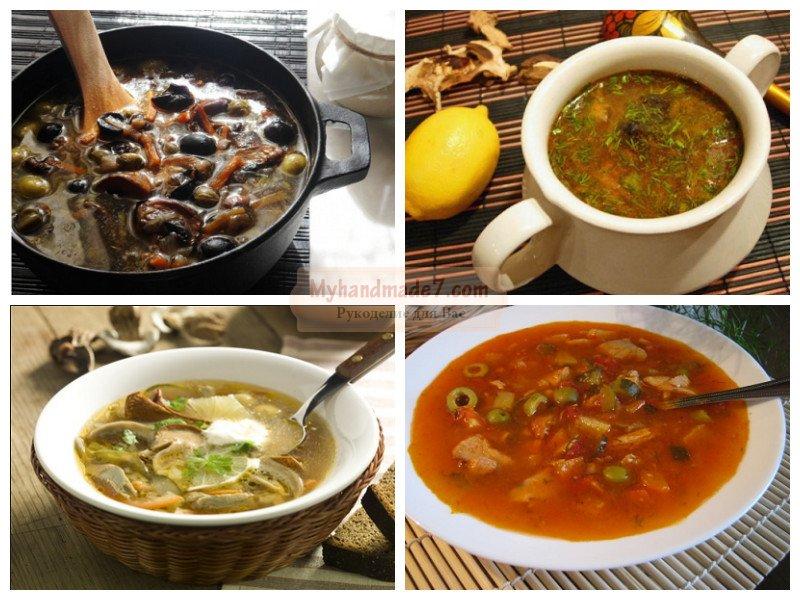 Постная солянка с грибами и капустой — рецепт с фото