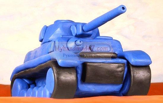 Как сделать танк из пластилина своими руками