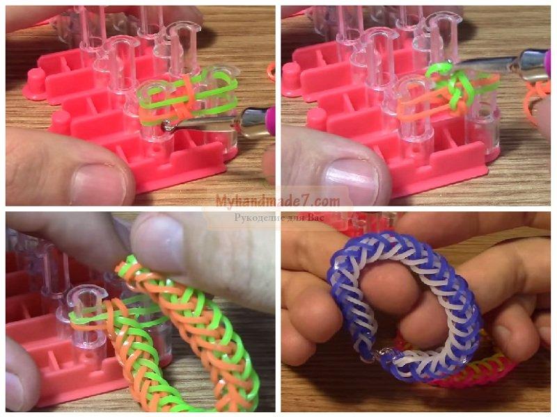 Как плести из резиночки для плетения браслетов