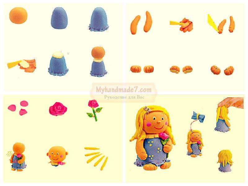 Куклы как сделать пластилин 351
