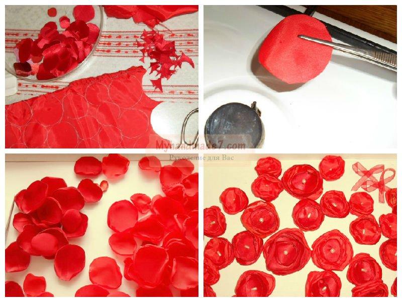 Сердце с рукой из салфеток шаблон