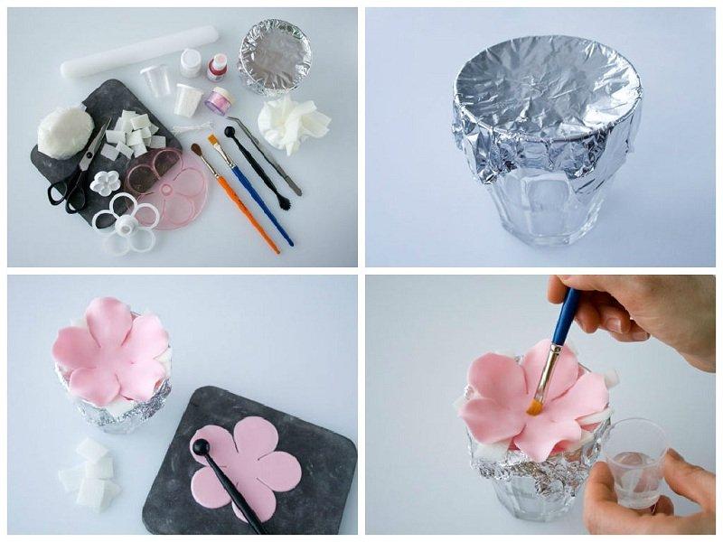 Как сделать цветок из мастики?