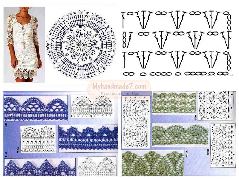 Модели платьев по вязанию крючком