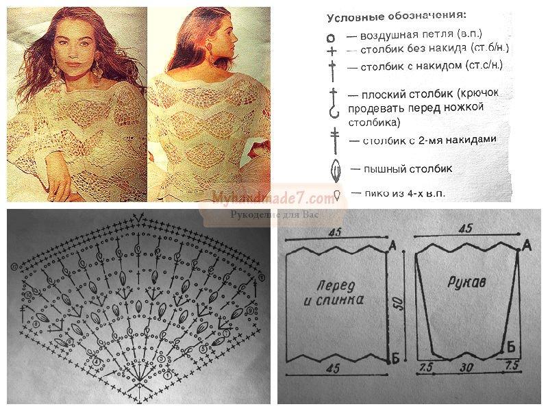 Блузка Крючком Со Схемой