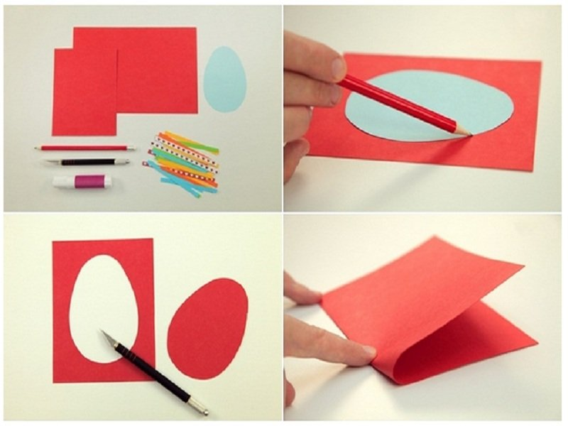 Пасхальные поделки для детей: открытки своими руками