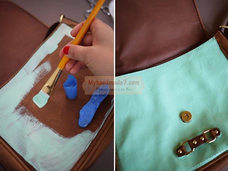 вязание крючком с использованием кожы