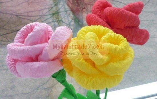 Большая роза из салфетки своими руками