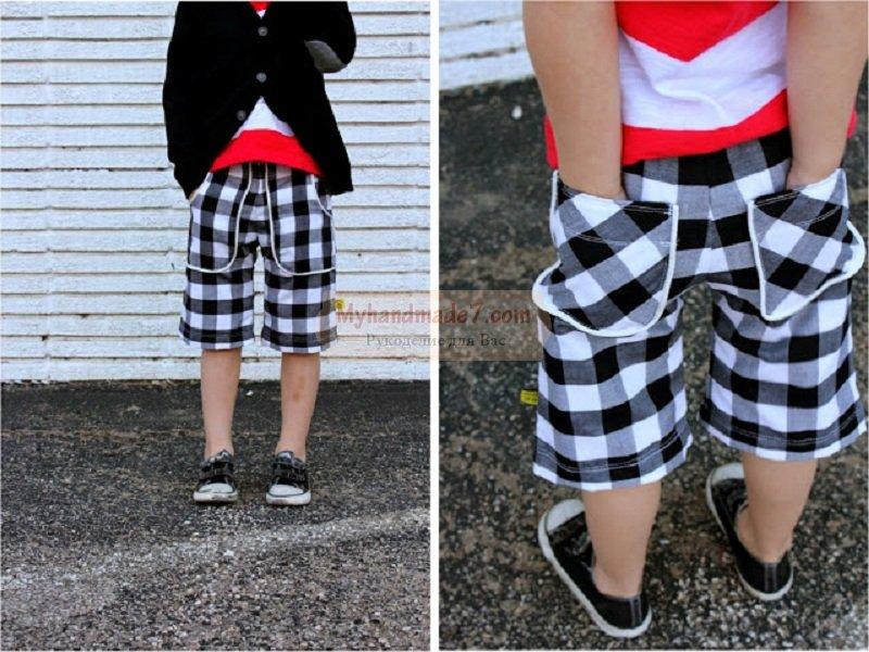 Шьем шорты с кармашками для мальчика