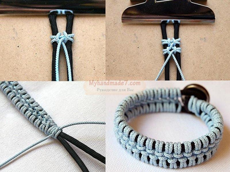 Браслет из шнурков: популярные