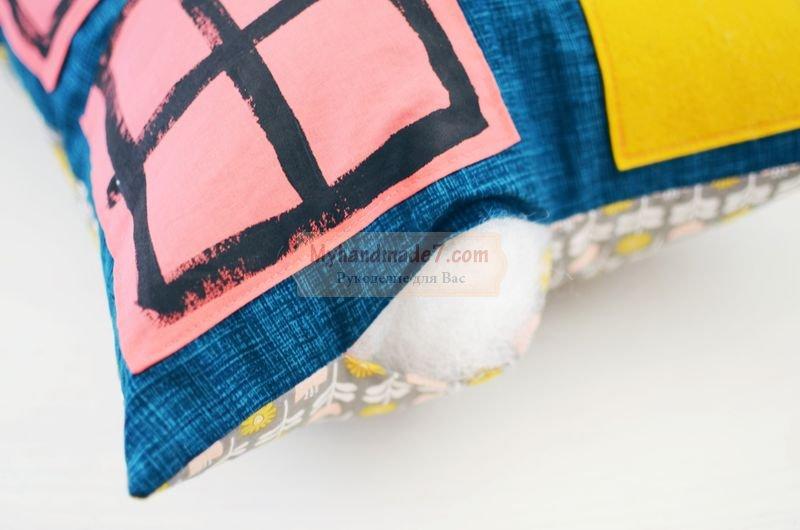 Детская подушка — кукольный домик: пошаговый мк своими руками