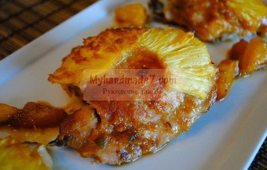 Курица с грибами и ананасами: популярные рецепты с фото