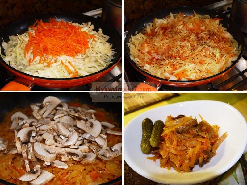 Грибы с капустой: рецепты для хозяюшек